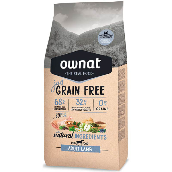 OWNAT Dog JUST GRAIN FREE Adult Lamb 14kg