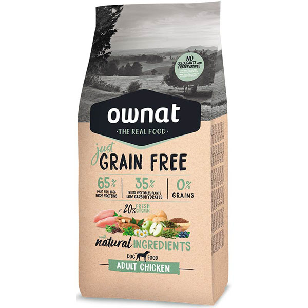 OWNAT Dog JUST GRAIN FREE Adult Chicken 14kg