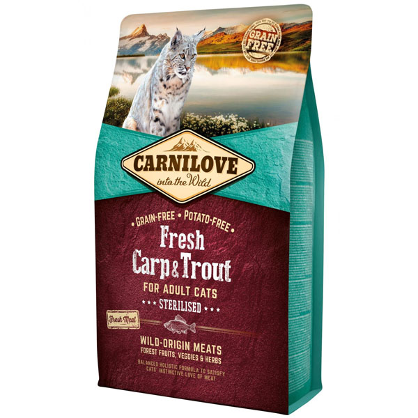 Carnilove Cat Fresh Carp & Trout Sterilised Adult 6kg