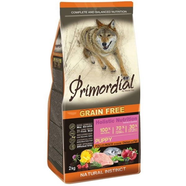 Primordial Grain Free Puppy Chicken & Sea Fish 12kg
