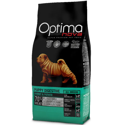 OPTIMAnova Dog PUPPY DIGESTIVE GF Rabbit 2kg