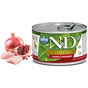 N&D DOG PRIME Puppy Chicken & Pomegranate Mini 140g - 2 ks