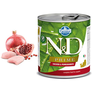 N&D DOG PRIME Puppy Chicken & Pomegranate 285g - 2ks