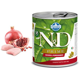N&D DOG PRIME Adult Chicken & Pomegranate 285g - 2ks