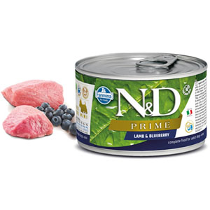 N&D DOG PRIME Adult Lamb & Blueberry Mini 140g - 2ks