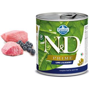 N&D DOG PRIME Adult Lamb & Blueberry 285g - 2ks