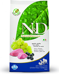 N&D Grain Free Adult Lamb & Blueberry 12kg