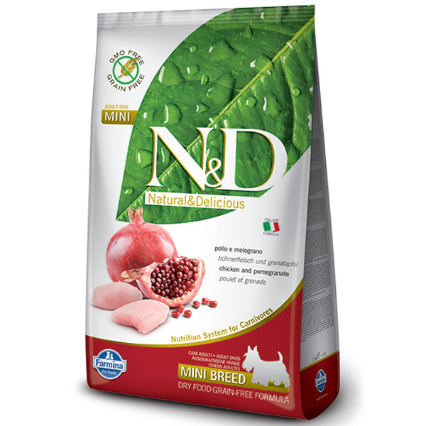 N&D GF Dog Adult Mini Chicken & Pomegranate 7kg