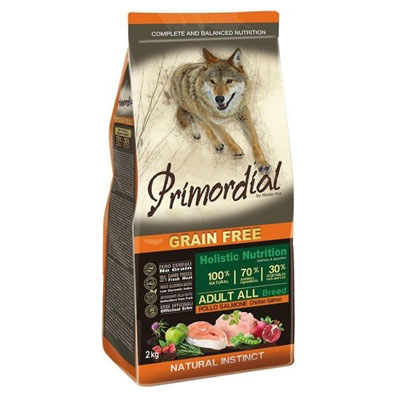Primordial Grain Free Adult Chicken&Salmon 12kg
