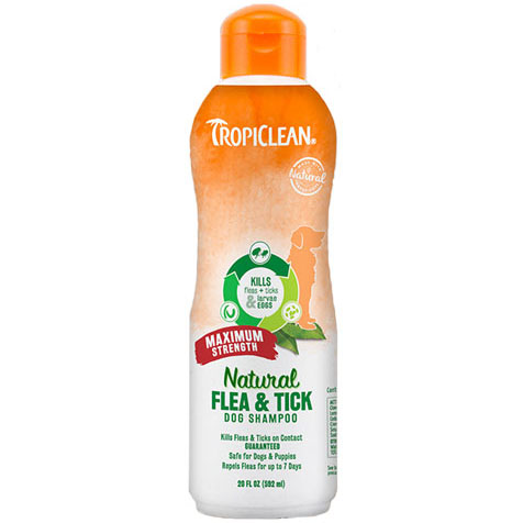 Tropiclean antiparazitní šampon Flea & Tick Maximum Strength 592ml