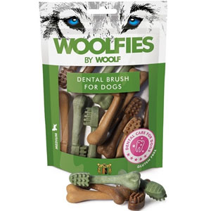 WOOLF pochoutka dentální Woolfies Dental Brush M 200g