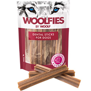 WOOLF pochoutka dentální Woolfies Dental Sticks S 200g
