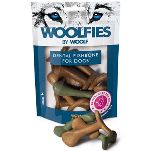 WOOLF pochoutka dentální Woolfies Dental Fishbone S 200g