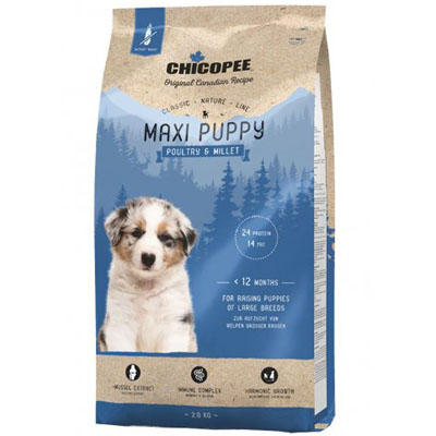 CHICOPEE Classic Nature MAXI Puppy Poultry&Millet 2kg