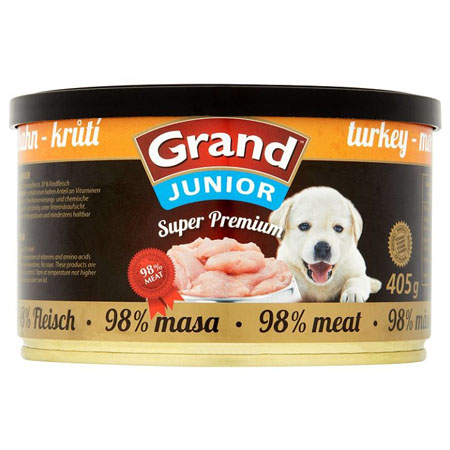 GRAND konz. Superpremium Junior krůtí 405g