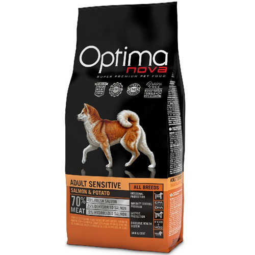 OPTIMAnova Dog ADULT SENSITIVE GF Salmon 12kg