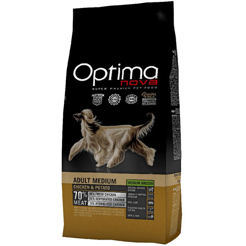 OPTIMAnova Dog ADULT MEDIUM GF Chicken 12kg