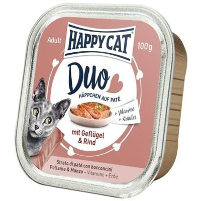 Happy Cat Duo Menu Drůbež & Hovězí 100 g