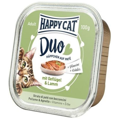 Happy Cat Duo Menu Drůbež & Jehněčí 100 g