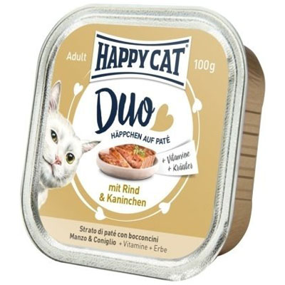 Happy Cat Duo Menu Hovězí & Králík 100 g