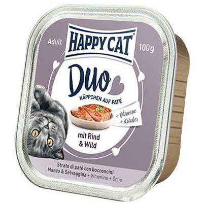 Happy Cat Duo Menu Hovězí & Zvěřina 100 g