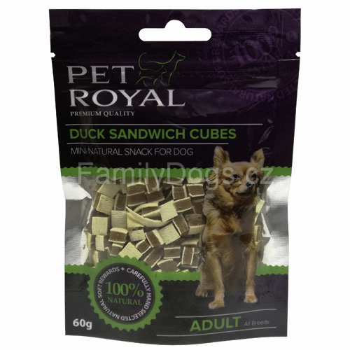 PET ROYAL Dog Duck Sandwich Cubes 60g