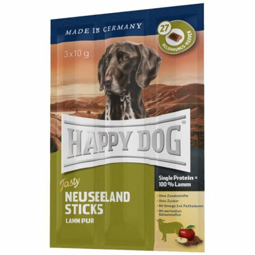 Happy Dog Neuseeland Stick (jehněčí) 3x10g