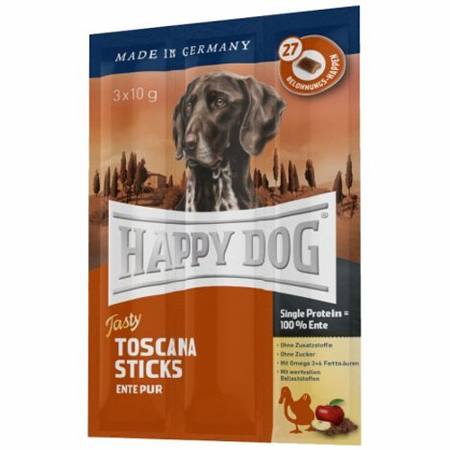 Happy Dog Toscana Stick (kachní) 3x10g
