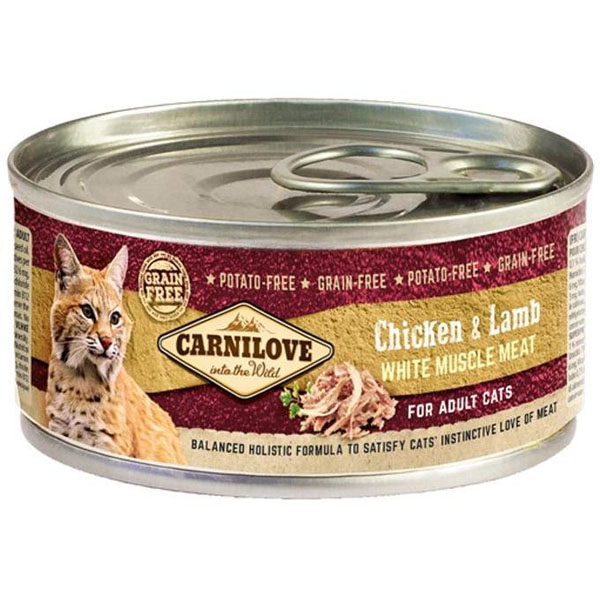 Carnilove White Muscle Meat Chicken&Lamb Cats 100 g