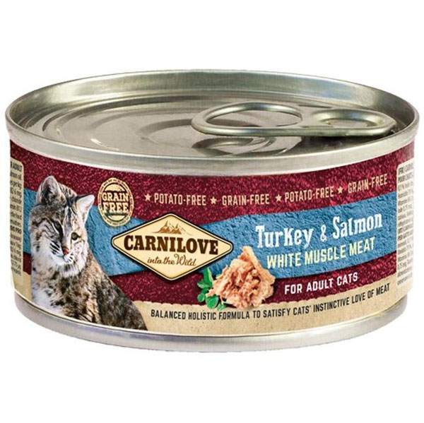 Carnilove White Muscle Meat Turkey&Salmon Cats 100 g