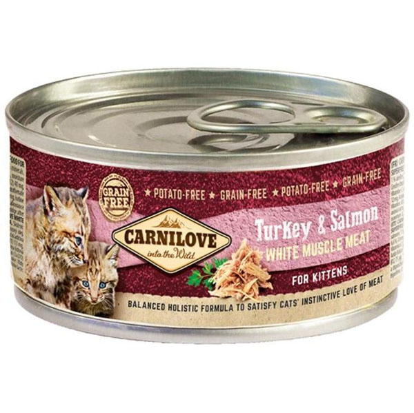 Carnilove White Muscle Meat Turkey&Salmon Kittens 100 g