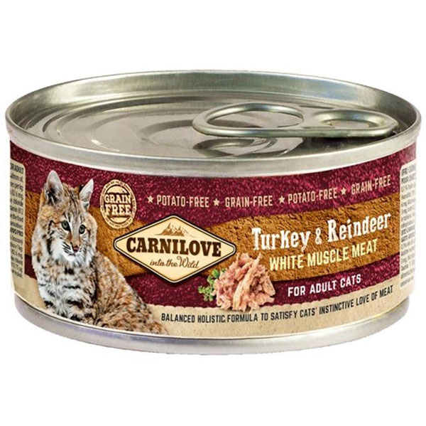 Carnilove White Muscle Meat Turkey&Reindeer Cats 100 g