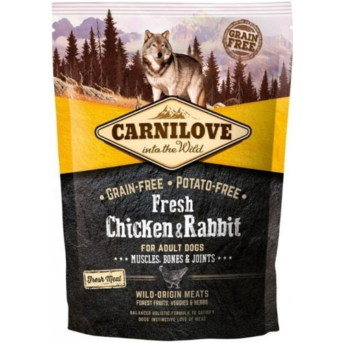 Carnilove Dog Fresh Chicken & Rabbit for Adult 1,5kg