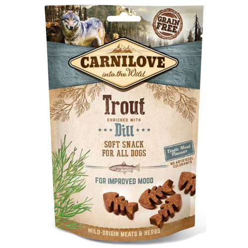 Carnilove Dog Semi Moist Snack Trout & Dill 200g