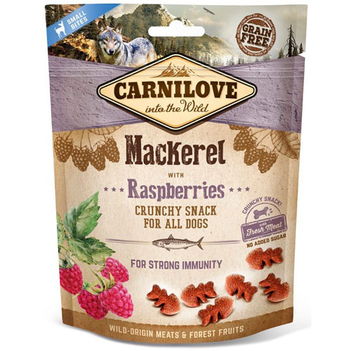Carnilove Dog Crunchy Snack Mackerel & Raspberries 200g