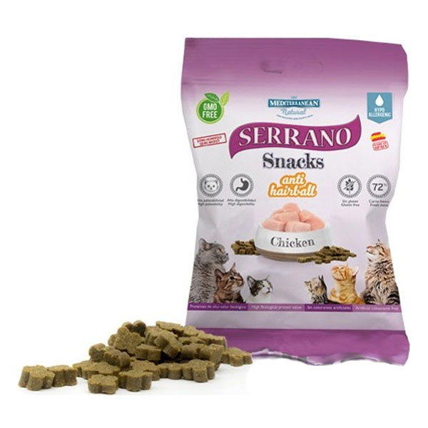 Serrano Snack for Cat AntiHairball Chicken 50g
