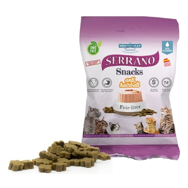 Serrano Snack for Cat AntiHairball Liver 50g