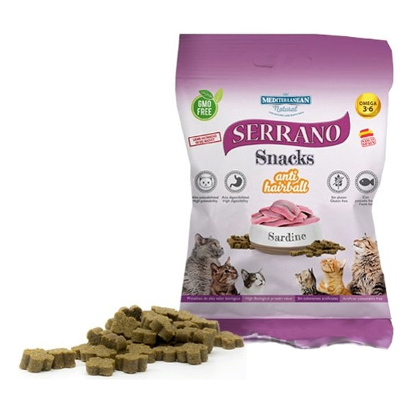 Serrano Snack for Cat AntiHairball Sardine 50g