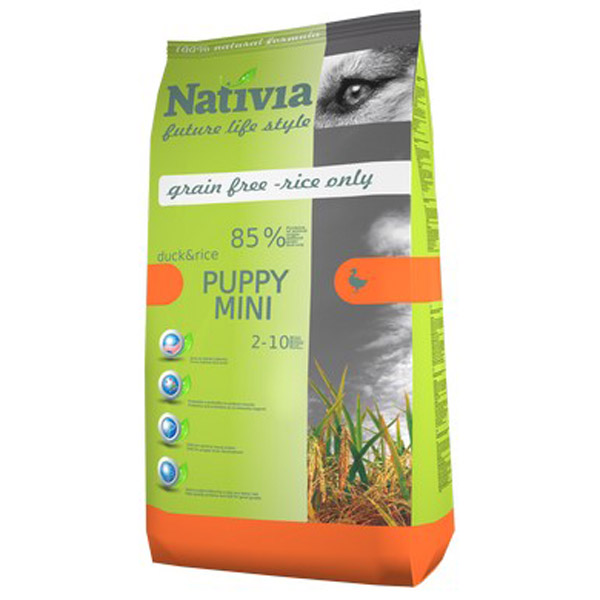 Nativia Dog Puppy Mini Duck&Rice 3kg
