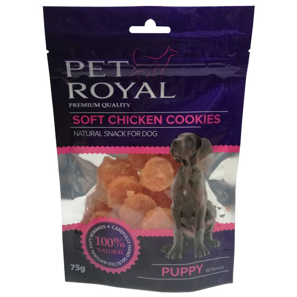 PET ROYAL Dog Puppy Soft Chicken Cookies 75g