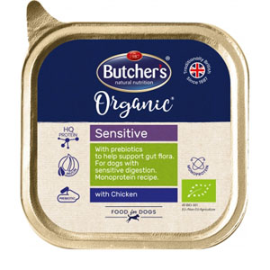 BUTCHER'S Dog Organic Sensitive s kuřecím 150g