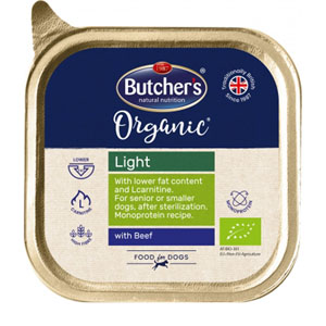 BUTCHER'S Dog Organic Light s hovězím 150g