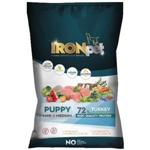 IRONpet TURKEY Puppy Mini & Medium 1,5 kg