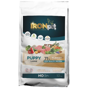 IRONpet TURKEY Puppy Large 12 kg