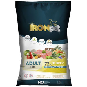 IRONpet TURKEY Mini Adult 1,5 kg