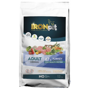 IRONpet TURKEY Medium Adult 12 kg