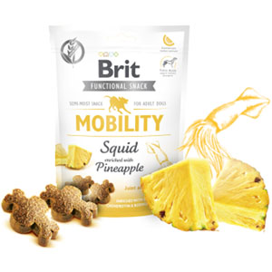 BRIT Dog Functional Snack Mobility Squid 150g
