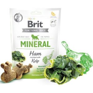 BRIT Dog Functional Snack Mineral Ham Puppies 150g