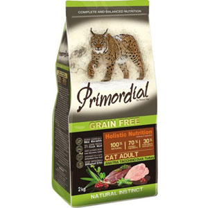 Primordial GF Cat Adult Duck Turkey 2kg