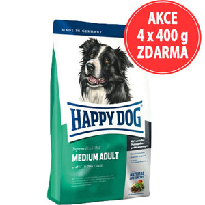 Happy Dog Medium Adult 12,5kg (AKCE 4x400g ZDARMA)